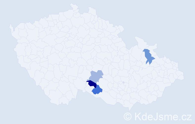 Příjmení: 'Grőhling', počet výskytů 4 v celé ČR