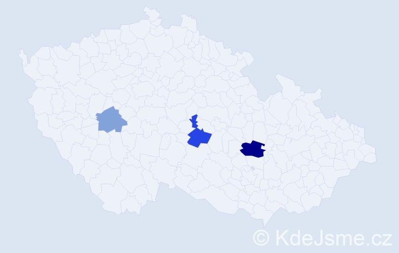Příjmení: 'Feckaninová', počet výskytů 6 v celé ČR