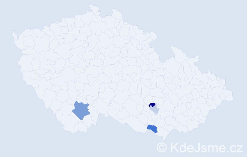 Příjmení: 'Lauseker', počet výskytů 8 v celé ČR