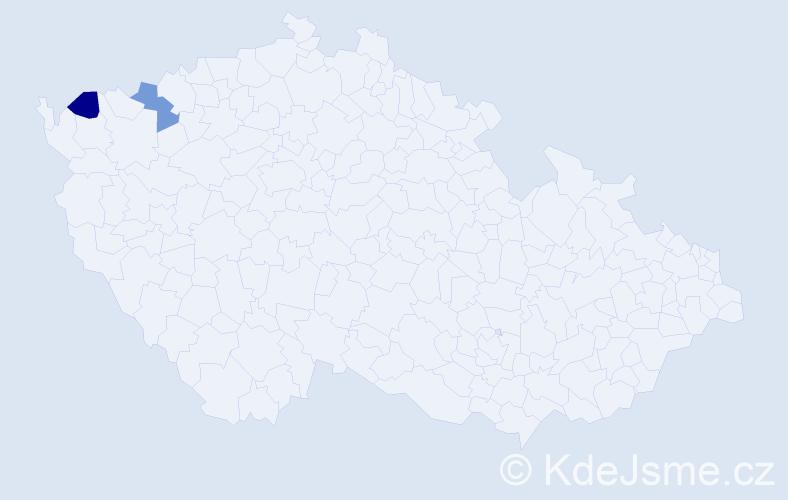 Příjmení: 'Ábelovský', počet výskytů 4 v celé ČR