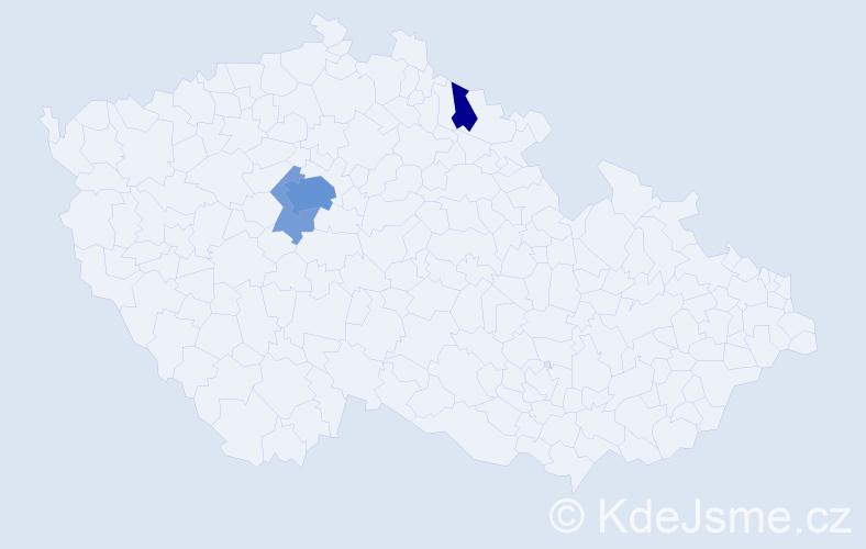 Příjmení: 'Kro', počet výskytů 11 v celé ČR