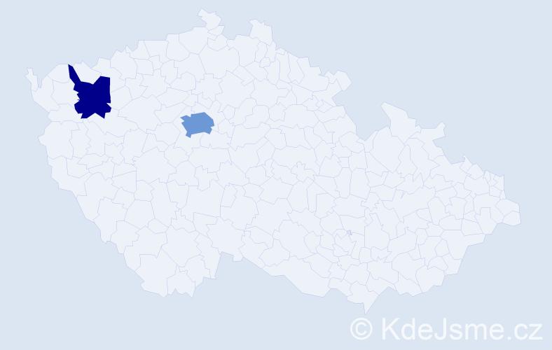 Příjmení: 'Kapellerová', počet výskytů 4 v celé ČR