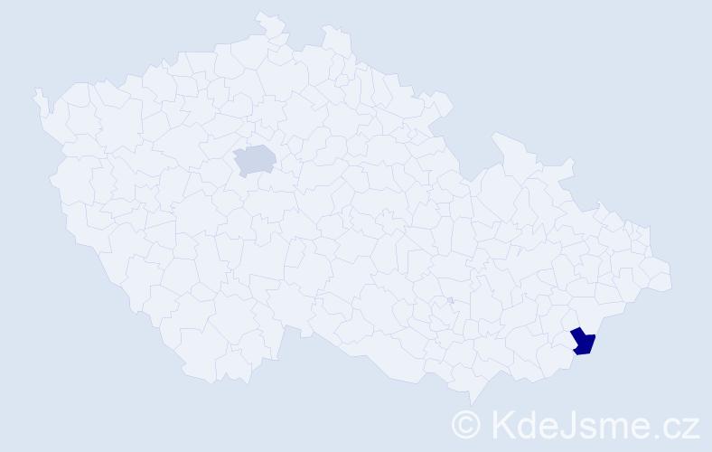 Příjmení: 'Darolová', počet výskytů 3 v celé ČR