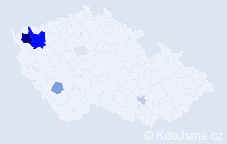 Příjmení: 'Čipková', počet výskytů 16 v celé ČR