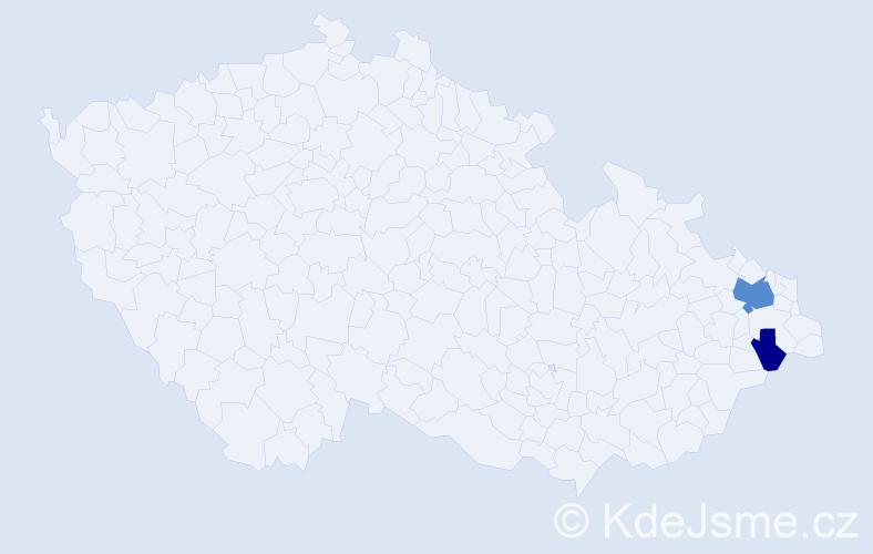 Příjmení: 'Fešárková', počet výskytů 10 v celé ČR