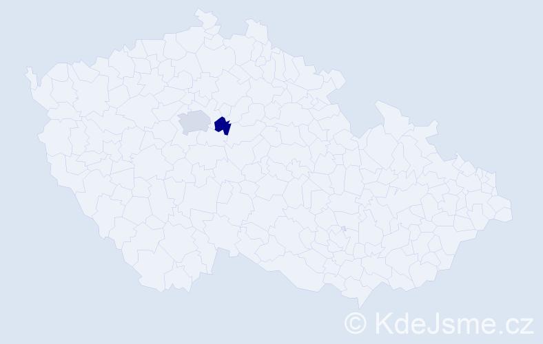 Příjmení: 'Cysařová', počet výskytů 3 v celé ČR