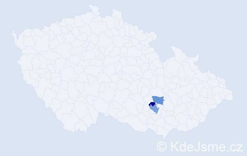 Příjmení: 'Dobyšarová', počet výskytů 5 v celé ČR