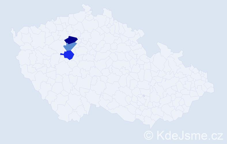 Příjmení: 'Hlebec', počet výskytů 3 v celé ČR
