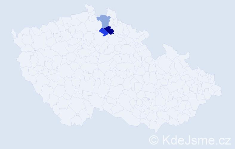 Příjmení: 'Felknerová', počet výskytů 6 v celé ČR