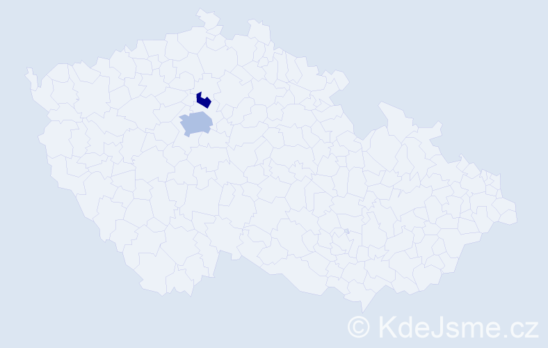 Příjmení: 'Janochna', počet výskytů 4 v celé ČR