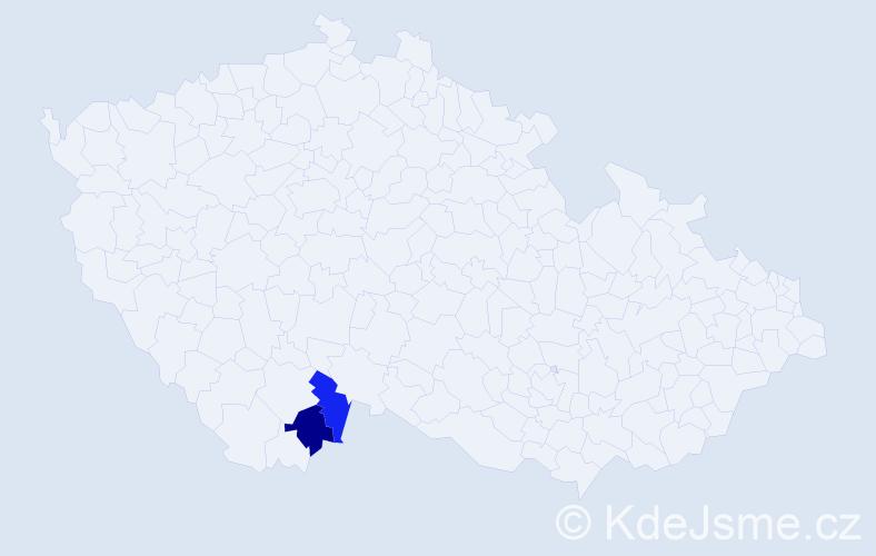 Příjmení: 'Filásová', počet výskytů 6 v celé ČR