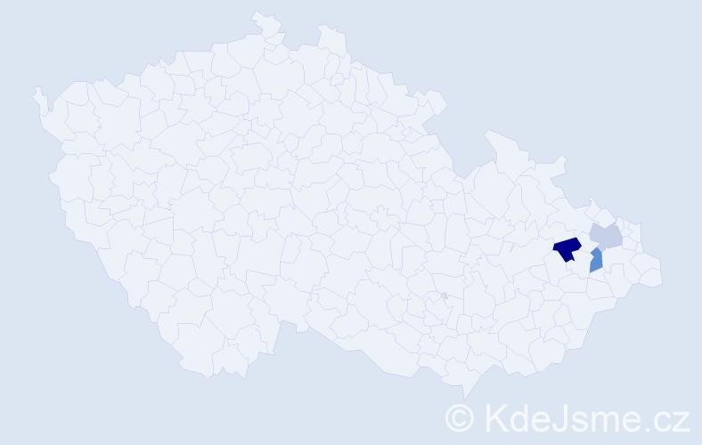 Příjmení: 'Drškovičová', počet výskytů 3 v celé ČR