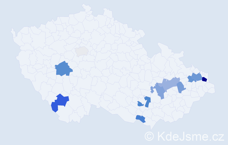 Příjmení: 'Enenkelová', počet výskytů 31 v celé ČR