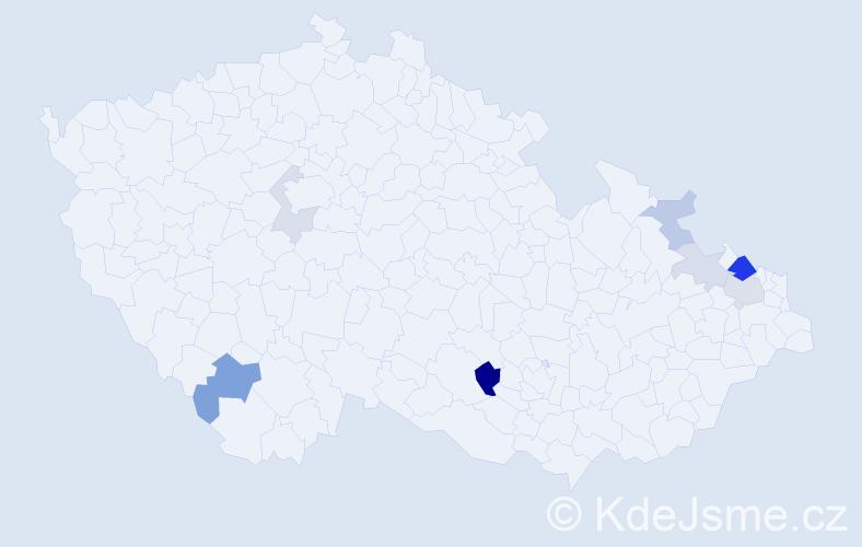 Příjmení: 'Lainka', počet výskytů 16 v celé ČR