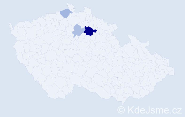 Příjmení: 'Elebrant', počet výskytů 6 v celé ČR