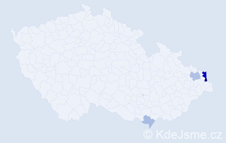 Příjmení: 'Iwaszková', počet výskytů 14 v celé ČR