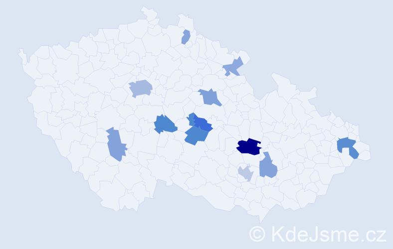 Příjmení: 'Macdonald', počet výskytů 27 v celé ČR