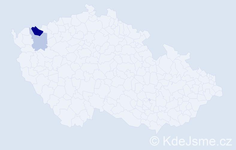 Příjmení: 'Cozma', počet výskytů 9 v celé ČR