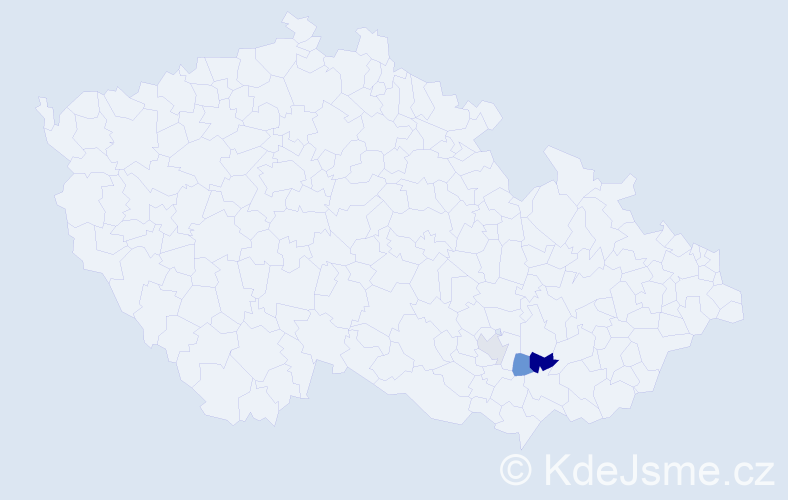 Příjmení: 'Badálek', počet výskytů 4 v celé ČR