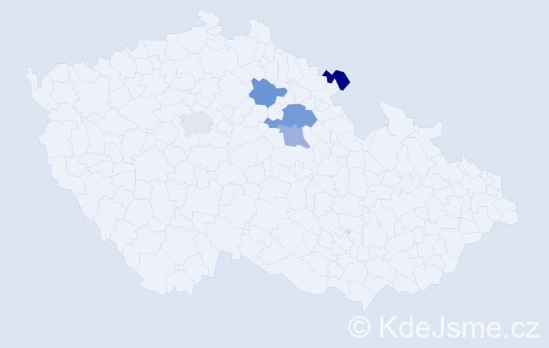 Příjmení: 'Číža', počet výskytů 12 v celé ČR