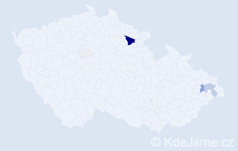 Příjmení: 'Kött', počet výskytů 6 v celé ČR