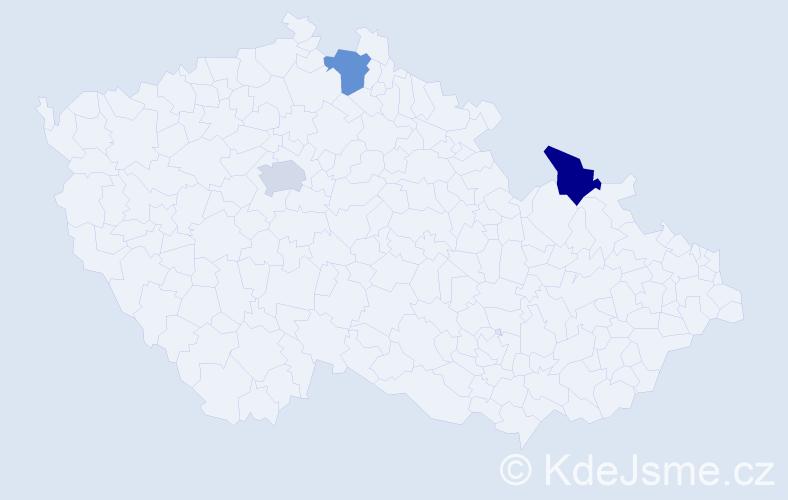 Příjmení: 'Ignatov', počet výskytů 3 v celé ČR