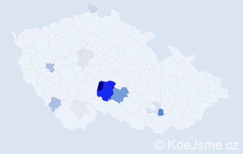 Příjmení: 'Brávek', počet výskytů 57 v celé ČR