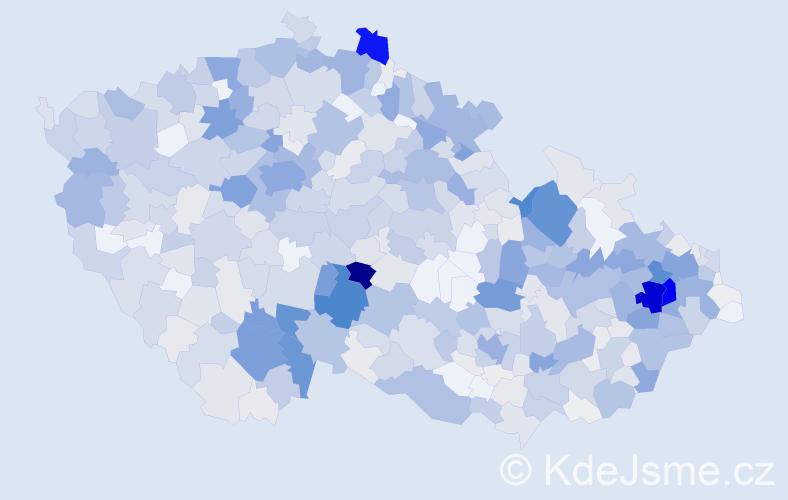 Příjmení: 'Davidová', počet výskytů 3102 v celé ČR