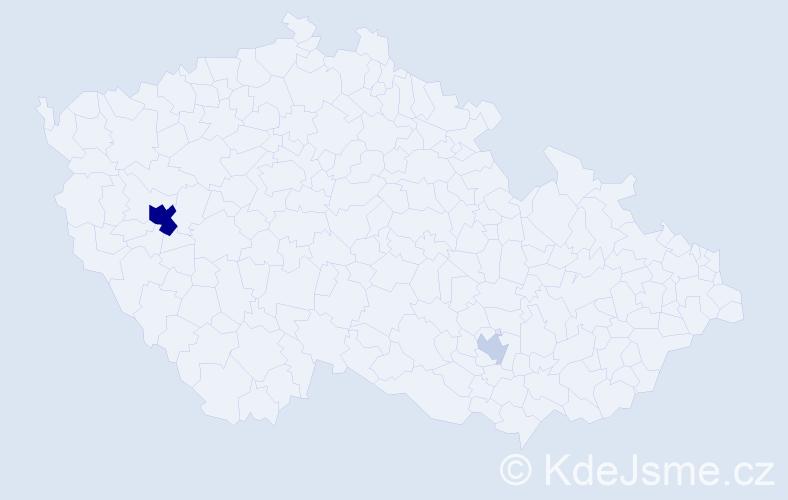 Příjmení: 'Króner', počet výskytů 7 v celé ČR