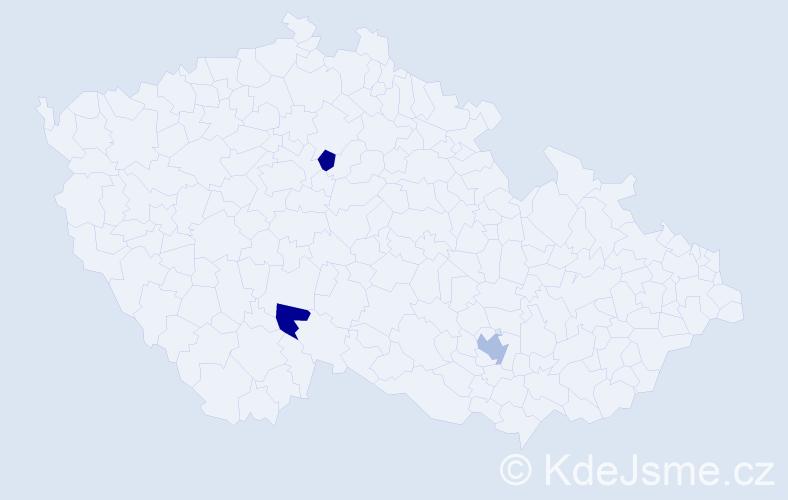 Příjmení: 'Malachovová', počet výskytů 7 v celé ČR