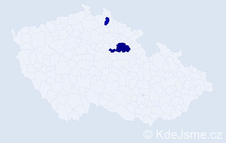 Příjmení: 'Debicki', počet výskytů 3 v celé ČR