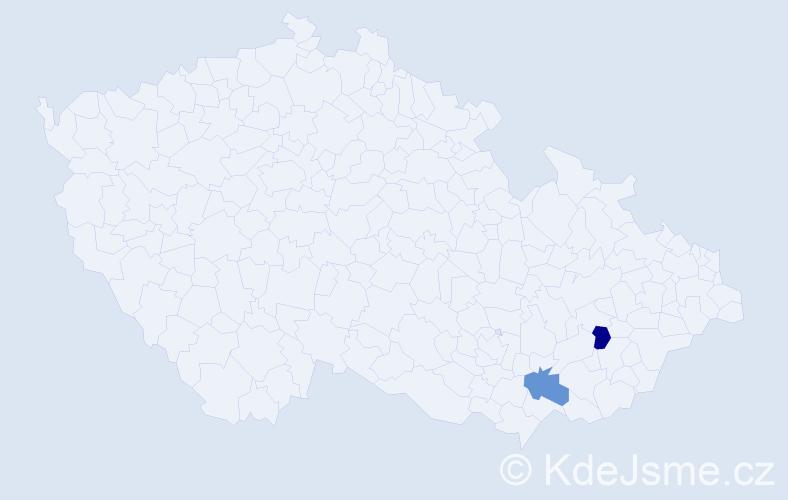 Příjmení: 'Jürgl', počet výskytů 2 v celé ČR