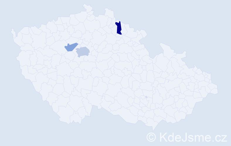 Příjmení: 'Karašová', počet výskytů 5 v celé ČR