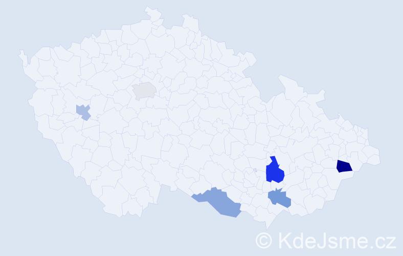 Příjmení: 'Amon', počet výskytů 8 v celé ČR
