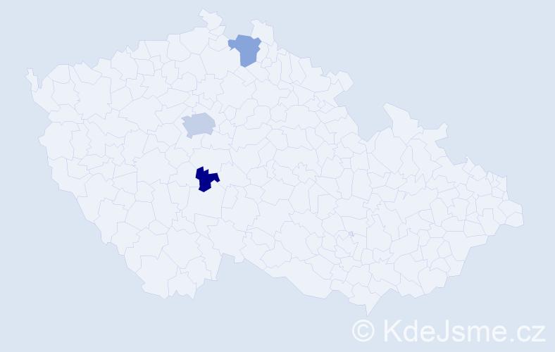 Příjmení: 'Kneschke', počet výskytů 8 v celé ČR