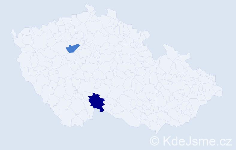 Příjmení: 'Ikavec', počet výskytů 4 v celé ČR