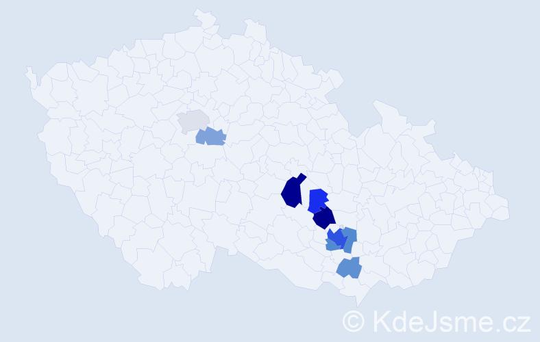 Příjmení: 'Grochová', počet výskytů 22 v celé ČR