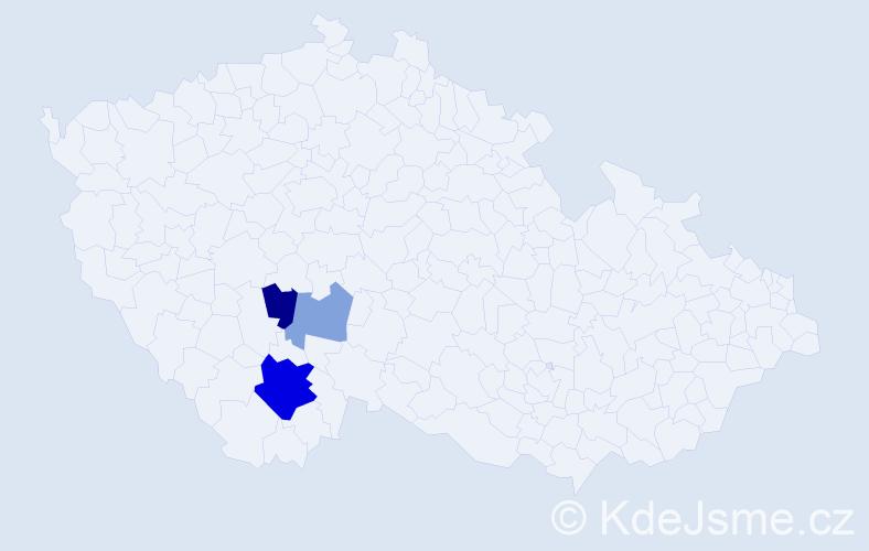 Příjmení: 'Cirmaciu', počet výskytů 7 v celé ČR