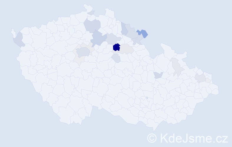 Příjmení: 'Kofránek', počet výskytů 84 v celé ČR