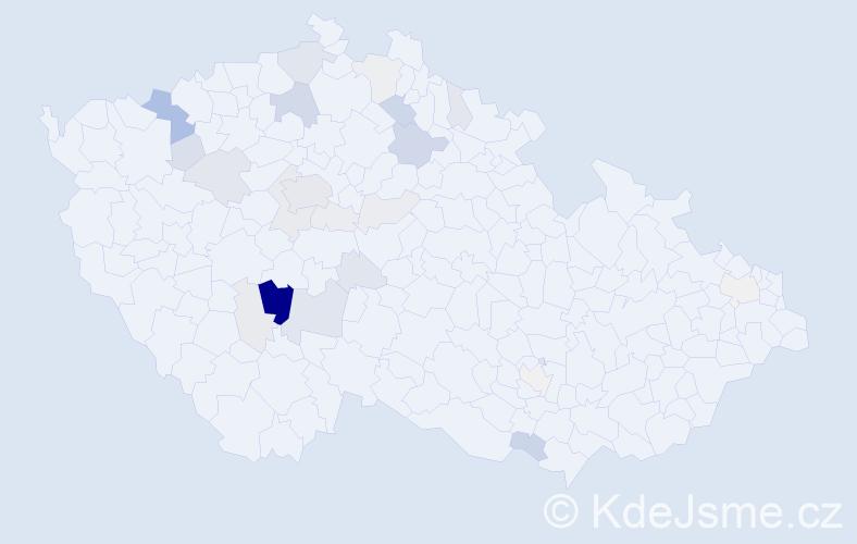 Příjmení: 'Hrych', počet výskytů 84 v celé ČR
