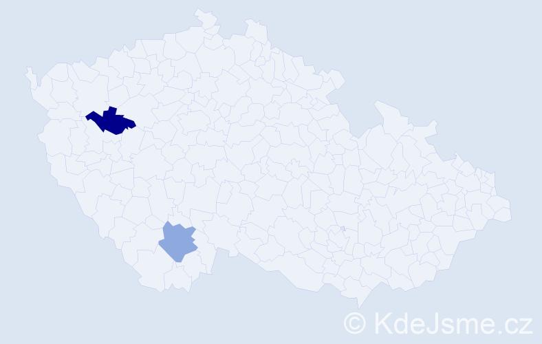 Příjmení: 'Balsa', počet výskytů 2 v celé ČR