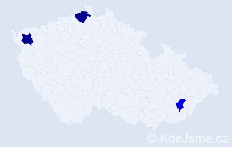 Příjmení: 'Kivaderová', počet výskytů 3 v celé ČR