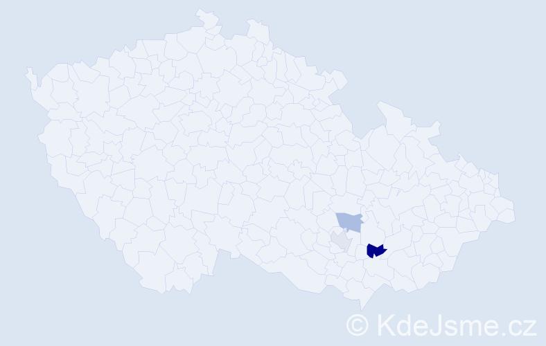 Příjmení: 'Jachimiák', počet výskytů 4 v celé ČR