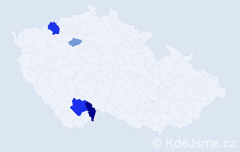Příjmení: 'Kochlöflová', počet výskytů 13 v celé ČR