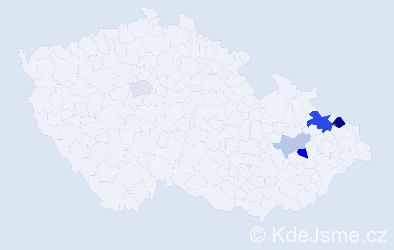Příjmení: 'Derichová', počet výskytů 11 v celé ČR