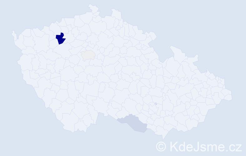 Příjmení: 'Dedinský', počet výskytů 7 v celé ČR