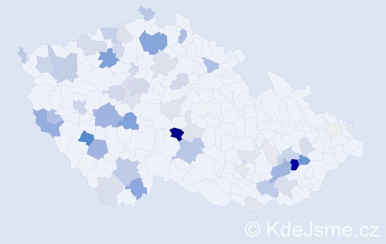 Příjmení: 'Ehrlich', počet výskytů 161 v celé ČR