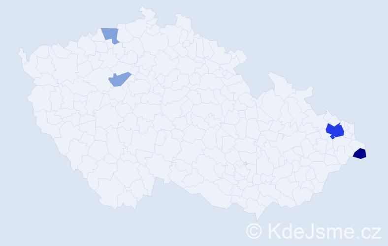 Příjmení: 'Labanič', počet výskytů 9 v celé ČR