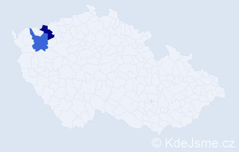 Příjmení: 'Lechmaník', počet výskytů 2 v celé ČR