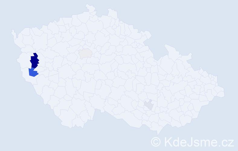 Příjmení: 'Atlas', počet výskytů 5 v celé ČR